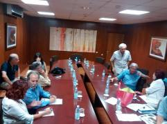 Momentos previos a la reunión con Alcalde de Las Palmas